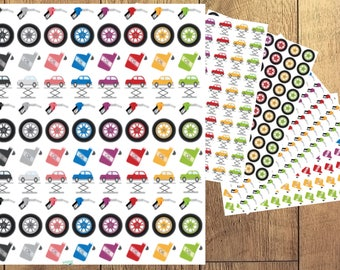 Sticker Sheet | Planner Stickers - Car Repair Reminder (Oil, Gas, Tires, Repair)