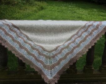 KNITTING PATTERN Lace Shawl Traditional Shetland Half Hap Wrap Knitting Pattern Textured Stitch Womens Teenager Fashion Winter Accessory