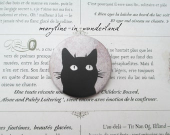 badge pins brooch cute black cat