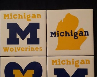 University of Michigan Ceramic Coasters