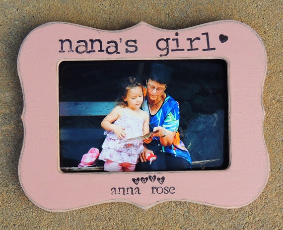 grandma\'s Girl picture frame personalized Mothers day gift ...
