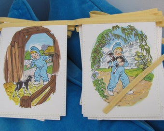 Vintage book bunting - Andy Pandy (little goat)