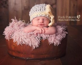 Crochet Pattern - Big Bow Crochet Hat Pattern - Crochet Pattern Hat - Textured Hat - Newborn, Baby, Toddler, Child, Adult Sizes - PDF 413