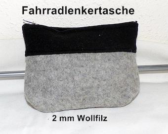 Wool Felt - Bike Bag with Softshell