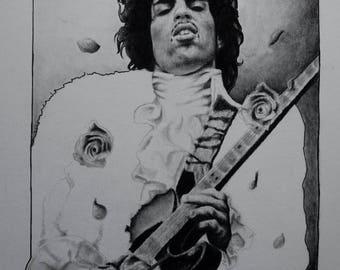 Prince Charcoal Portrait (ORIGINAL)