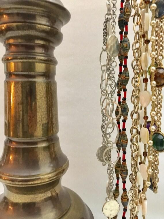 Retail display Jewelry Display vintage lamp parts