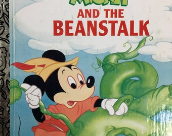 Mickey and the Beanstalk Little Golden Book Copyright 1988-A ed. #103-59 or 1991-1993 #103-69 - Golden Book Luv