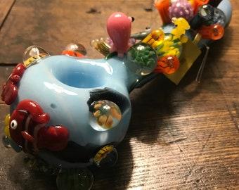 Great Barrier Reef Dry Pipe Spoon Pipe Hand Pipe Glass Super Cute Kawaii Smoking Pipe