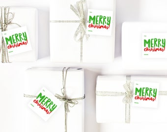 Christmas Gift Tags   Christmas Labels   Instant Download   Print Your Own