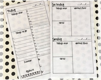 Filofax Personal Day on 1 Page Insert