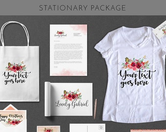 Stationary Designs Package With Custom Logo Design Branding And Identity Business Card Design Package UNLIMITED REVISIONS Vector File