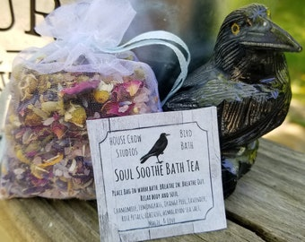 Mother's Day Gifts Spa Soak Herbal Bath Tea Muscle Soak Tub Tea Floral Bath Soak Relaxation Body Soak - Soul Soothe