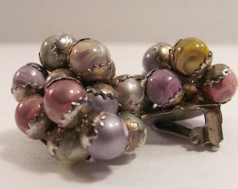 Vintage Bead Clip-On  Earrings
