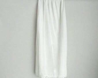 Long White Midi Half Slip Size Small