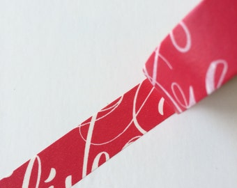 15 mm x 10 m washi ruban adhésif - rouge, elegant(Yu)