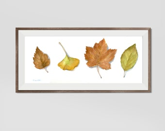 Watercolor Fall Leaves, Watercolor Painting Prints, Fall Decor, Fall leaves Decor, Thanksgiving Decor
