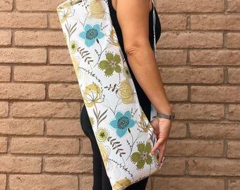 Mothers Day Gift, Yoga mat bag, AUTUMN GLORY, yoga sling, yoga mat carrier, yoga sac, Yoga sack, yoga bag, yoga tote, Yoga Carrier, yoga