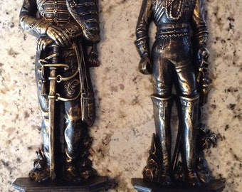Vintage Burwood Products Company Military Soldiers Plastic Wall Decor-4325 & 4326~2 Piece Set