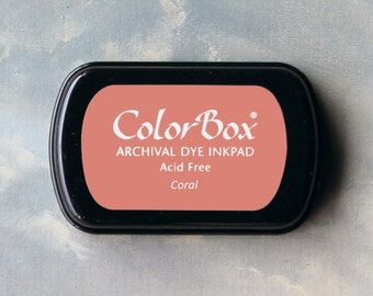 Pink Stamp Pad (Coral) // Archival ink // ColorBox