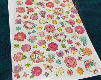 Floral stickers from japan
