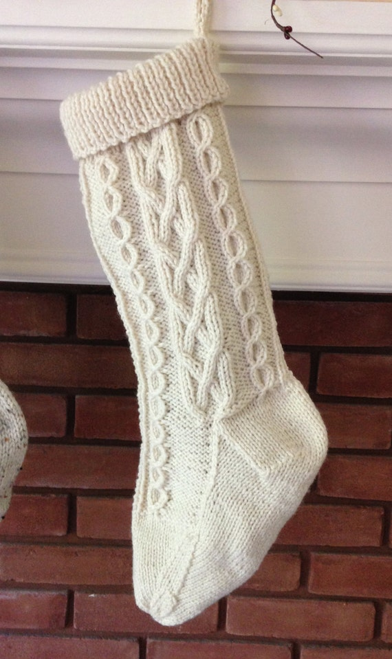 Knit Stocking Pattern Celtic Twist Knit Stocking Pattern Fisherman