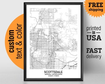 Scottsdale city map Etsy