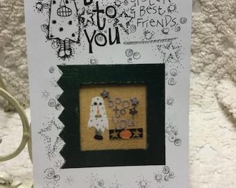 Halloween Cross Stitch Pattern - 'Boo To You'