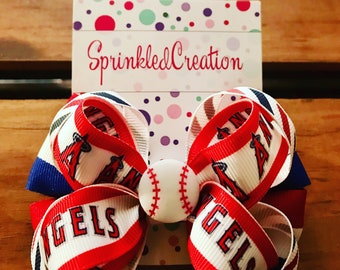Angel Baseball 4 inch bow (free shipping)