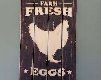 Rustic Farm Fresh Eggs sign