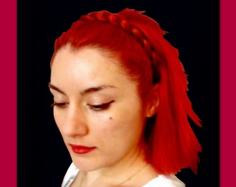 hair braided headband elastic headband braid plait wedding bridal hairband hair band head band women hair accessory hairpiece synthetic hair