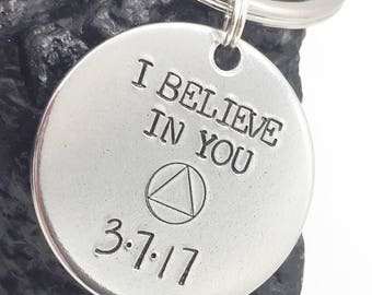 Recovery Gift, Sobriety Keychain, Sober Gifts,  Sober Anniversary Gifts, Recovery Gift, Sobriety Anniversary Gifts