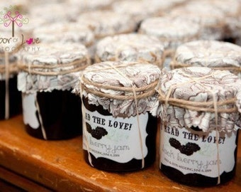 Personalized Jam or Jelly Label Designs - Spread the Love - Curvy Shape / DIGITAL FILE