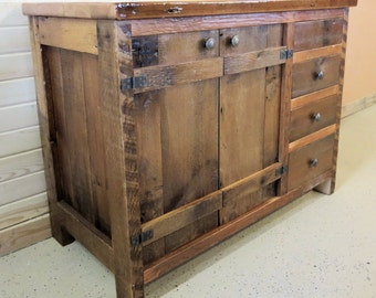 Barn Wood Vanity Batten Door Style