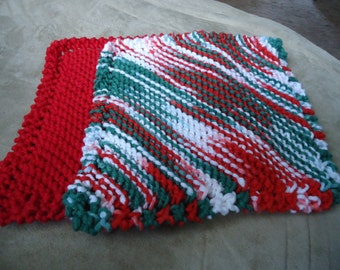 Made to Order Knitted Traditional \Dishcloths Knit in 100% Cotton 5 Dollars each