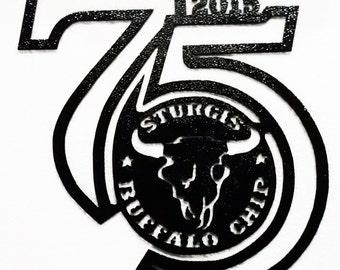 Buffalo Chip, Sturgis, Licensed Metal Art , Harley, Bikers, Home Decor, Gift, Harley Davidson, Biker Decor, Man Cave, Metal
