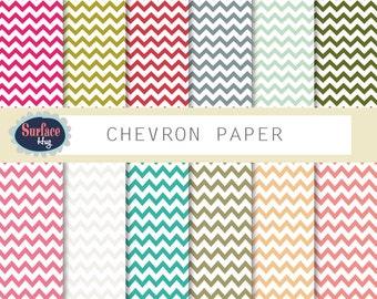 Digital paper, CHEVRON PAPER Red chevron, Chevron paper, Scrapbook chevron, Digital Chevron, Chevron background, Chevron papers.