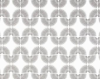 "Two  96"" x 50""  Custom Curtain Panels -  Gorder Caterpillar Geometric - Grey"