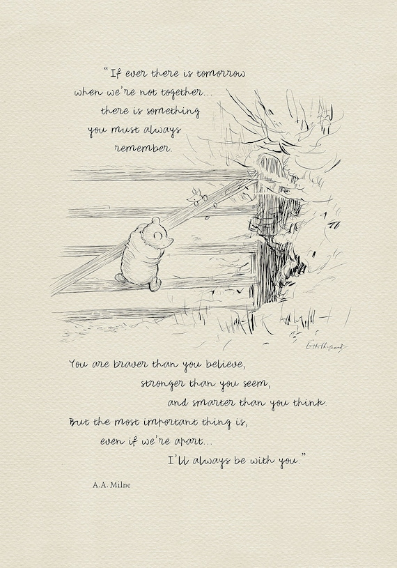 If Ever There Is Tomorrow Winnie The Pooh Quotes Classic