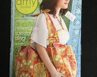 Amy Butler Midwest Modren Sewing Patterns~ Reversable Sunday Sling