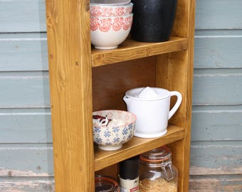 Rustic shelving unit - handmade from reclaimed wood (available for immediate dispatch)