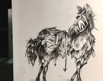 Steed Original Sketch