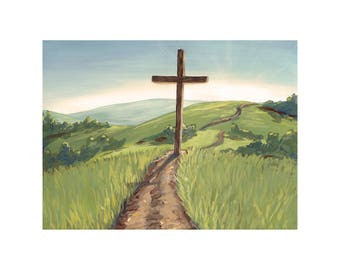 Cross Landscape Digital Print