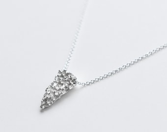 mushroom pendant necklace | minimalist jewelry | silver pendant necklace | gold pendant necklace