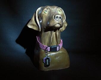Hand Sculpted Portrait Bust/Urn of you Beloved Pet
