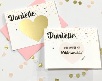 Will You Be My Bridesmaid Scratch Off - Bridesmaid Proposal Scratch Off Card - Unique Proposal Card Bridesmaid ROSE JUBILEE
