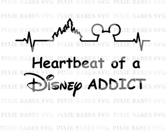 heartbeat of a disney addict decal vinyl cricut Mickey Mouse Shorts Clip Art Baby Mickey Mouse Clip Art