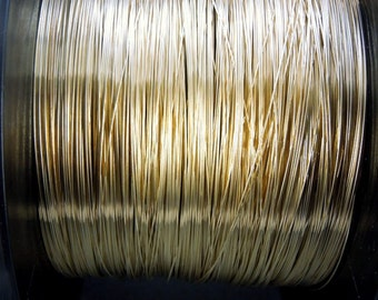 10 feet Gold Fill Wire 14k goldfill wire -- 26 Gauge Gold Fill Round Half Hard Wire-- PER 10 FEET