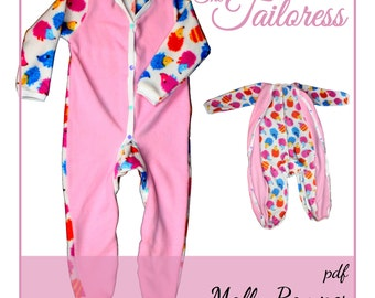 Molly Adaptive Clothing PDF Romper PDF Sewing Pattern 9-14 Child Sewing Pattern Romper Sewing Pattern Adaptive PDF Pattern Pajama Pyjama