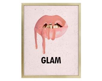 Kylie Lipkit Inspired Art - Makeup Love Life - Makeup Room - Fashion - Chic - Wall Art - Feminine Art - Prints - Makeup is my Art Print