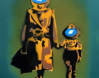 Underwater Spraypaint stencil
